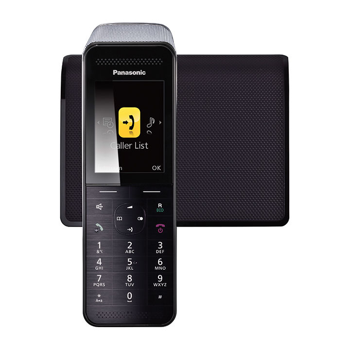 Cordless landline phone with LCD display by Panasonic