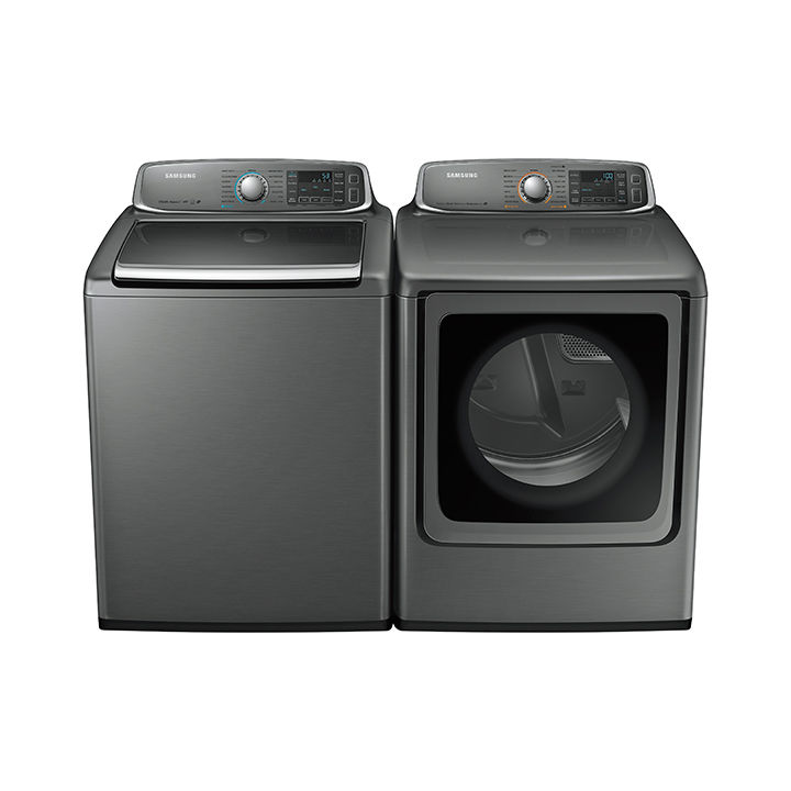 Dryer and top-load washer by Samsung