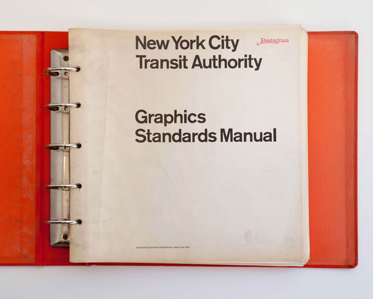 New York City Transit Authority Graphics Standards Manual cover