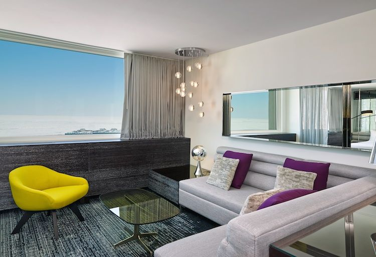 W Hotel Lakeshore suite with views of Lake Michigan