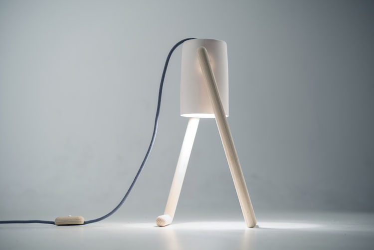 Hedda Torgersen's Boo Lamp in porcelain and ash