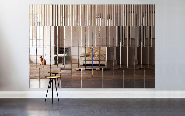 Large Pleat Mirror Panel by AfroditiKrassa
