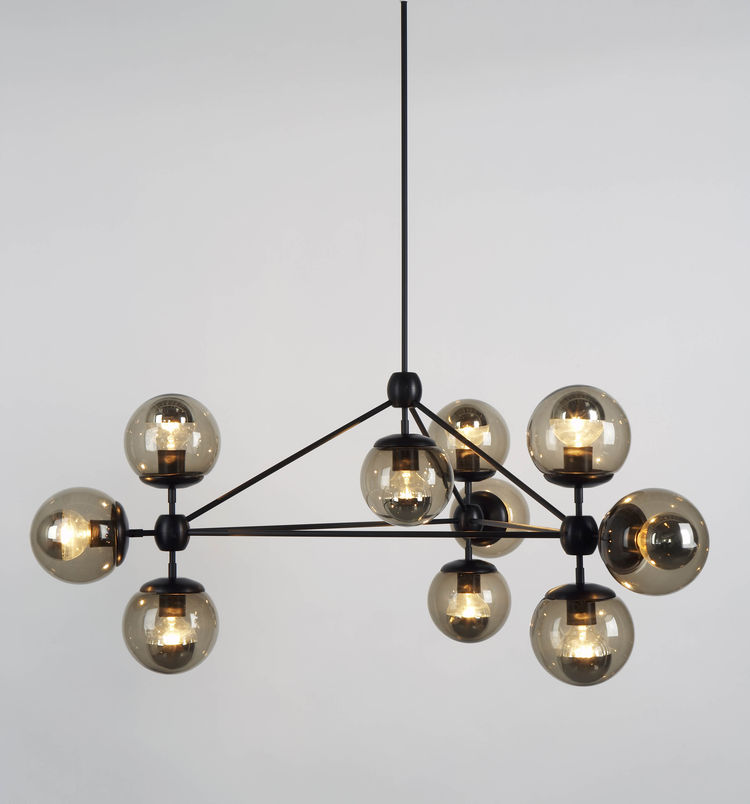 Spherical Modo chandelier by Jason Miller