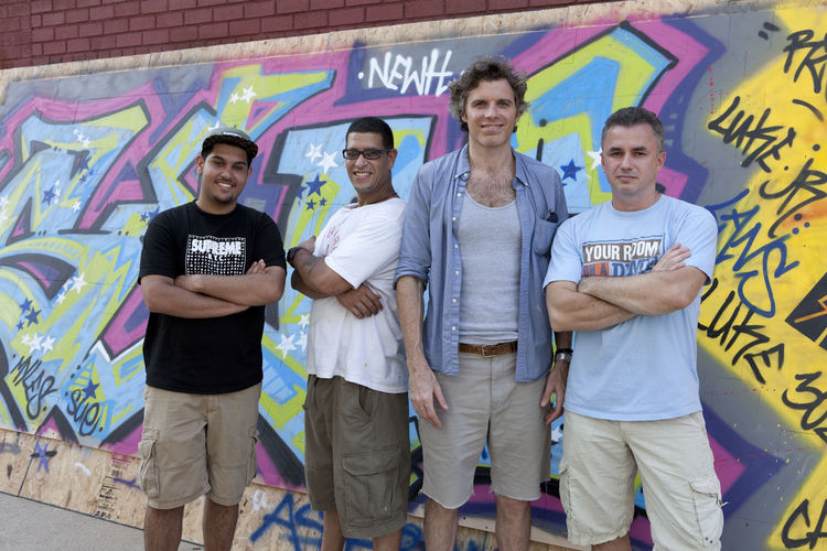 Raydoor's Luke Siegel with graffiti artists