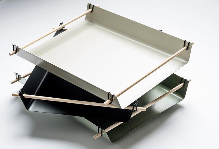 Metal and wood tray by Christina Liljenberg Halstrøm for Design Nation
