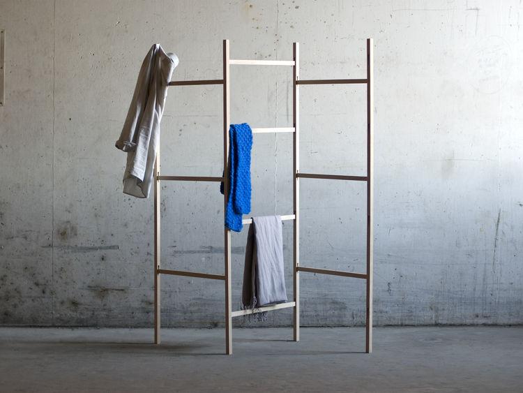 Wood Cloth Rack by Jakob Jorgensen