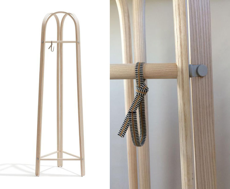 Elements ash bentwood coat rack by Line Depping