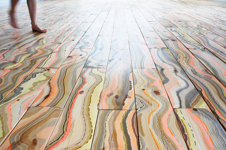 Pernille Snedker Hansen Marbelous Wood Wave floorboards