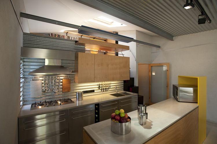 Kitchen of the Tamarama renovation