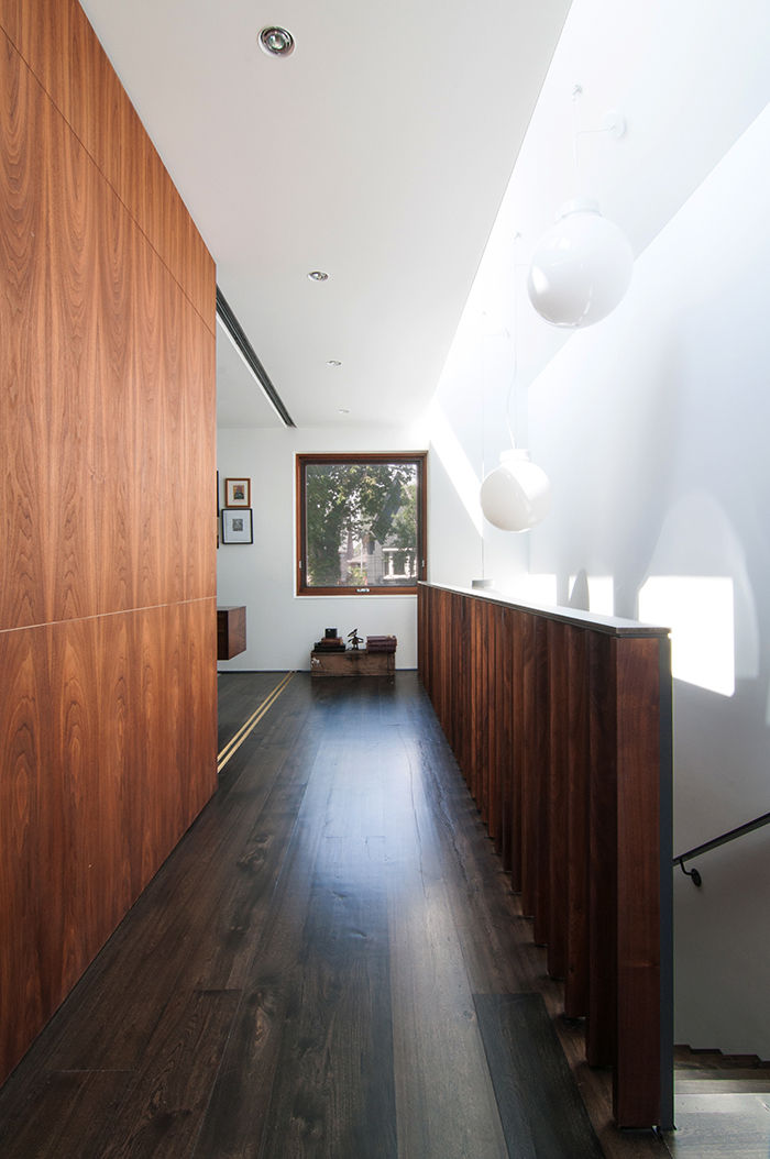 Toronto second floor with natural light and walnut stair