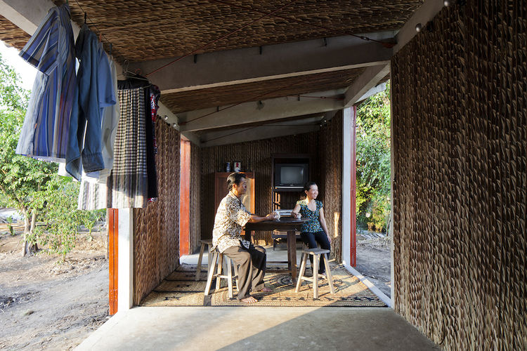 The interior of the S House prototype in Vietnam