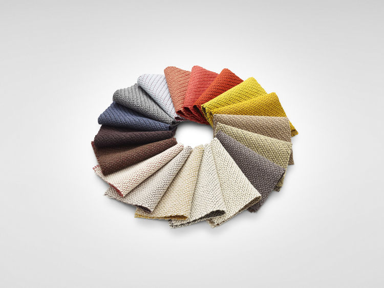 Coda fabric by Kvadrat with new coloring by Anderssen & Voll