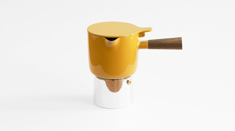 Yellow Good Morning moka pot