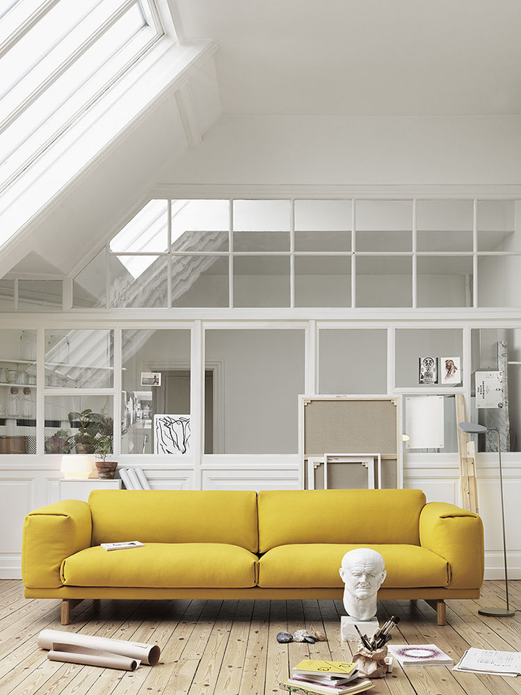 Rest yellow sofa by Anderssen & Voll for Muuto