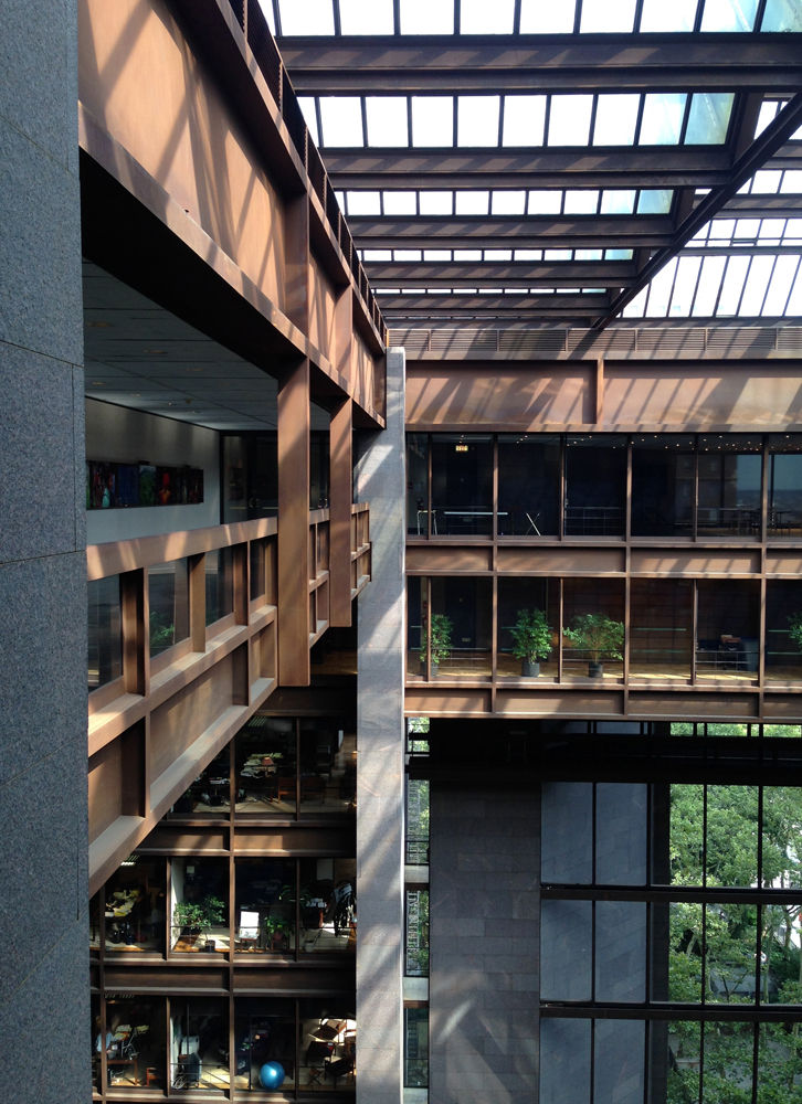 Kevin Roche John Dinkeloo atrium for the Ford Foundation in New York City
