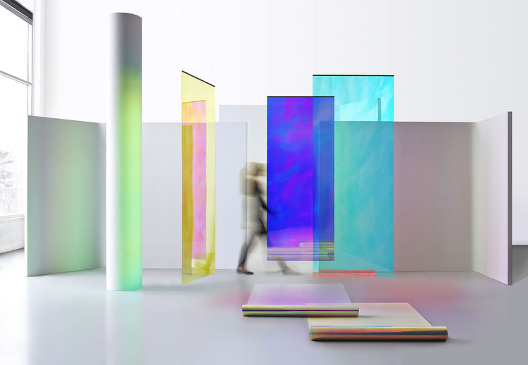 Dichroic architectural film by 3M