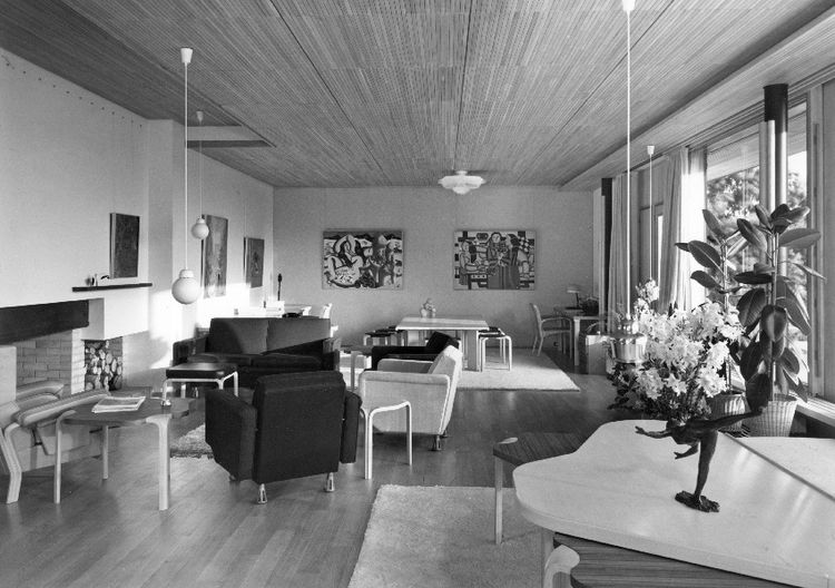 Living Room, Maison Louis Carre by Alvar Aalto