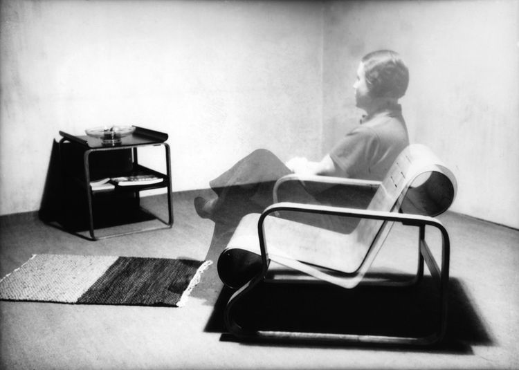Alvar Aalto on a Paimio Chair