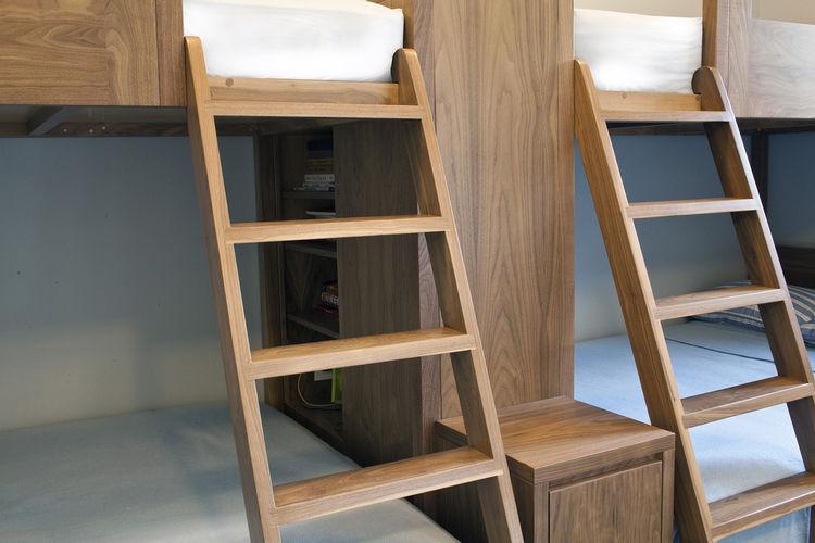 walnut bunk bed ladders