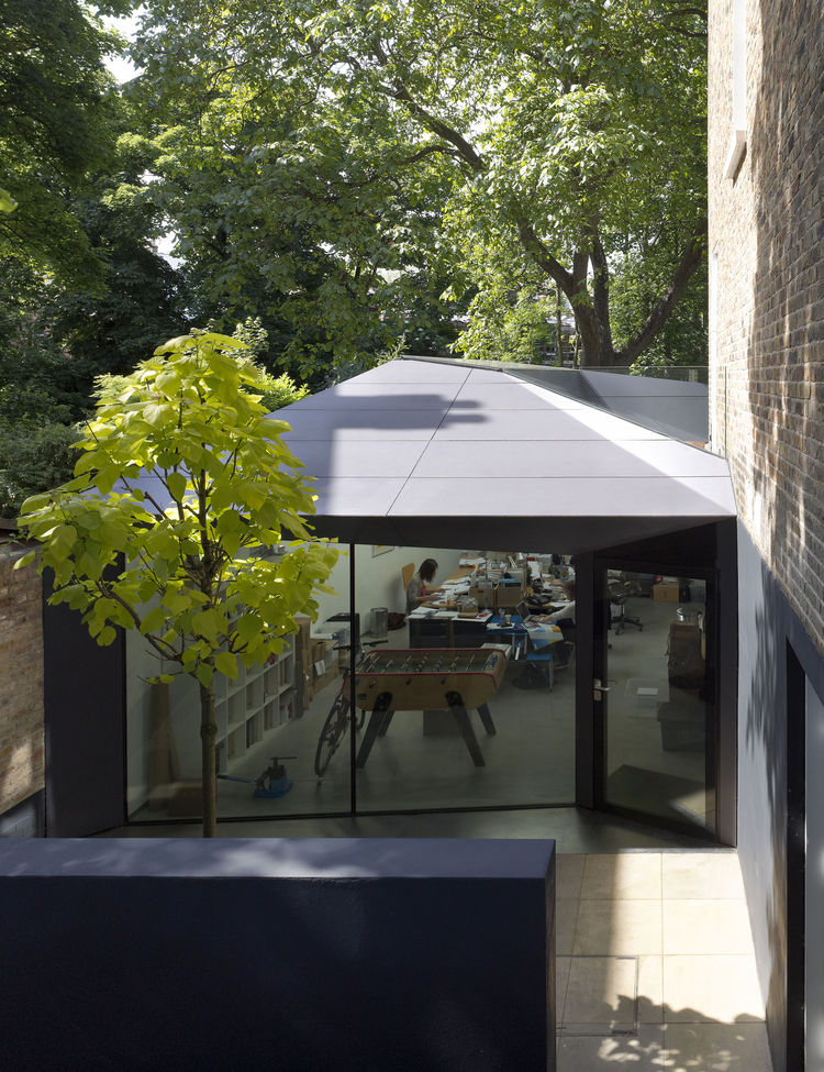Office Entrance at the Lens House in sunken courtyard