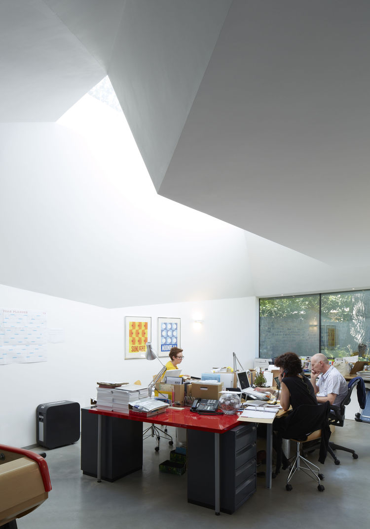 Office Interior at the Lens House
