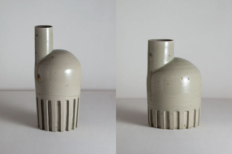 Matthias Kaiser celadon glazed ceramic vase
