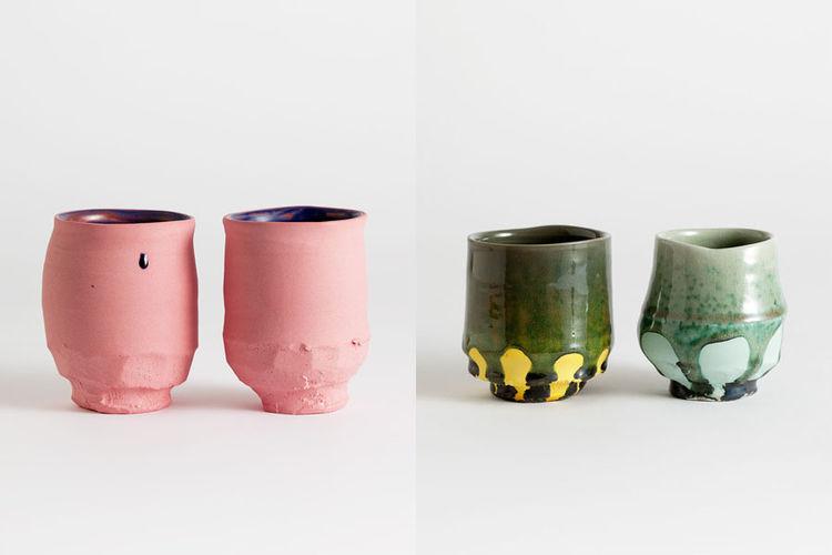 Matthias Kaiser ceramic porcelain cups