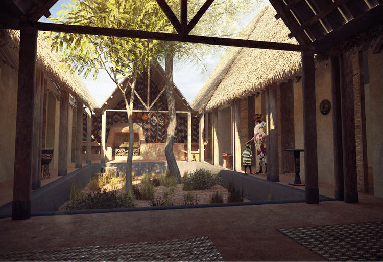 Mud house concept with courtyard by M.A.M.O.T.H.
