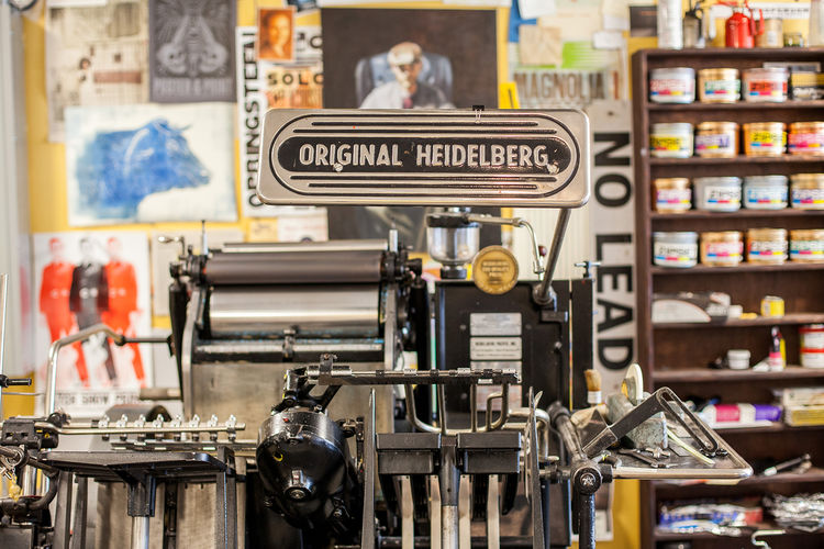 Heidelberg letterpress machine at Aesthetic Union
