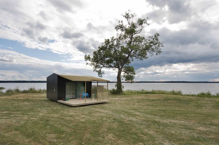 Tiny prefab cabin in Sweden