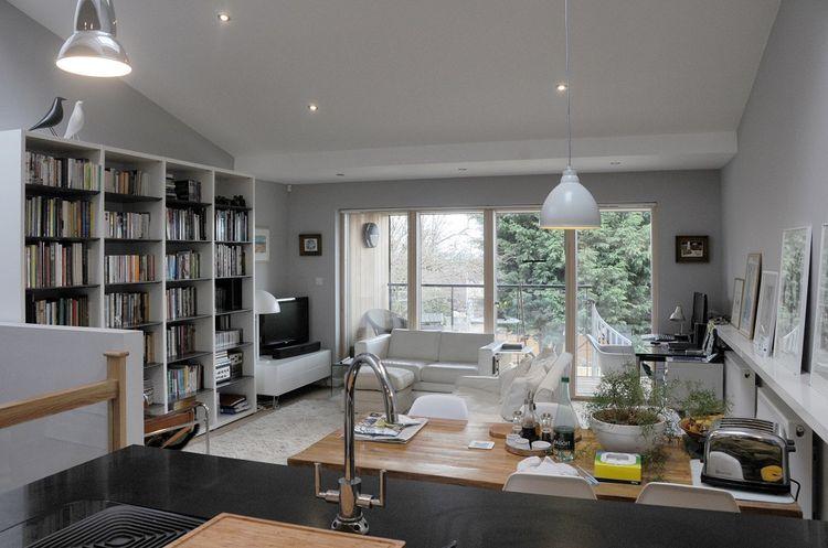 Ralph Allen Yard prefab development interior living space