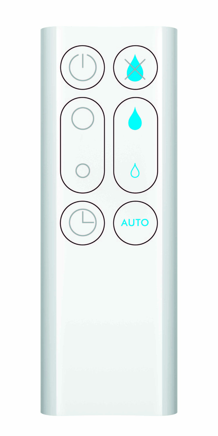 The remote control to the Dyson Hygienic Mist Humidifier.