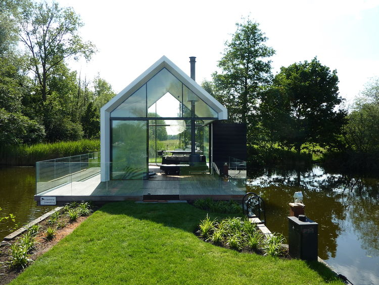 The Island House Prefab Cabin with gabled roof