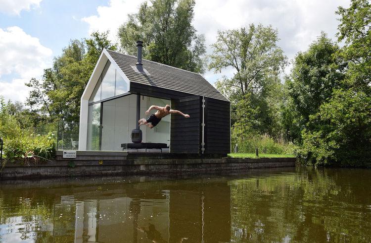 The Island House Prefab Cabin on the lake