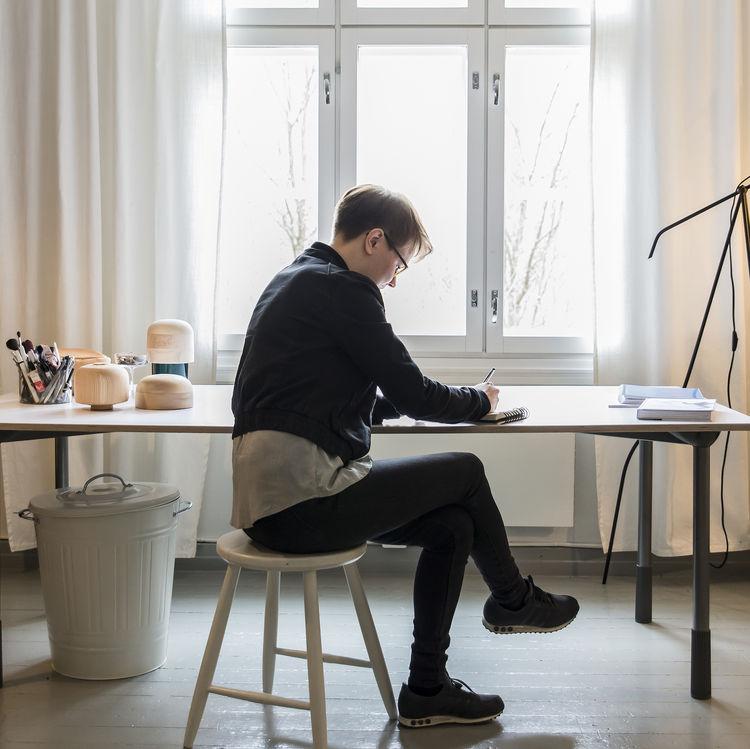 Designer Katriina Nuutinen at Her Desk