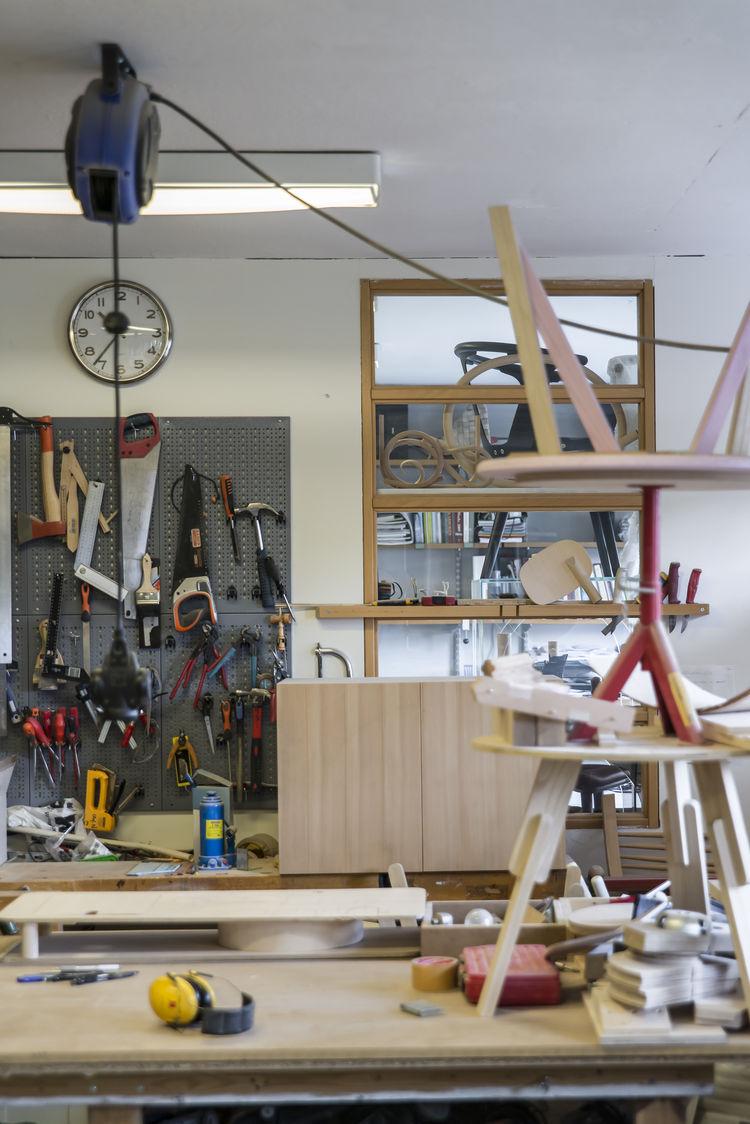 Designer Sami Kallio furniture studio in Gothenburg, Sweden