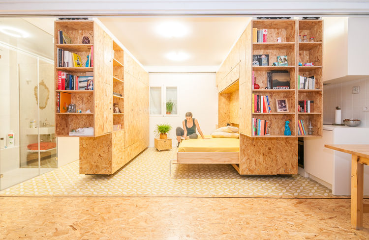 Tiny modular home with Murphy bed