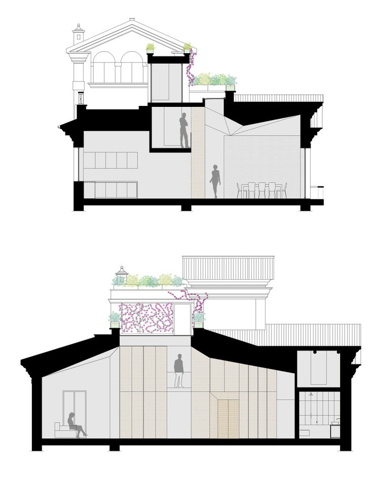 Elevation for a renovated Art Deco apartment in Rome by SCAPE
