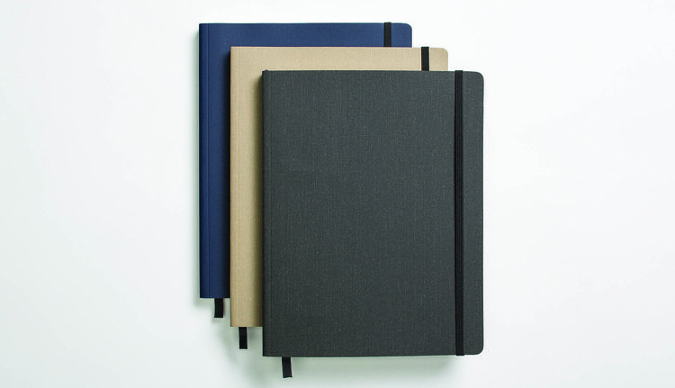 Large soft-linen journal by Shinola