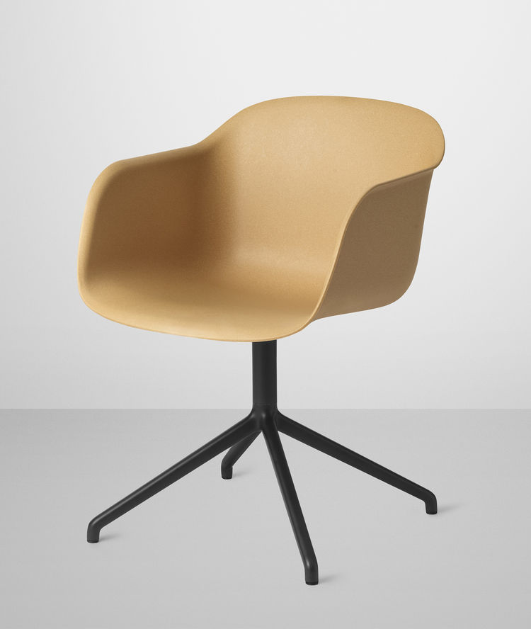 Fiber Chair by Iskos Berlin for Muuto in nature composite with swivel base