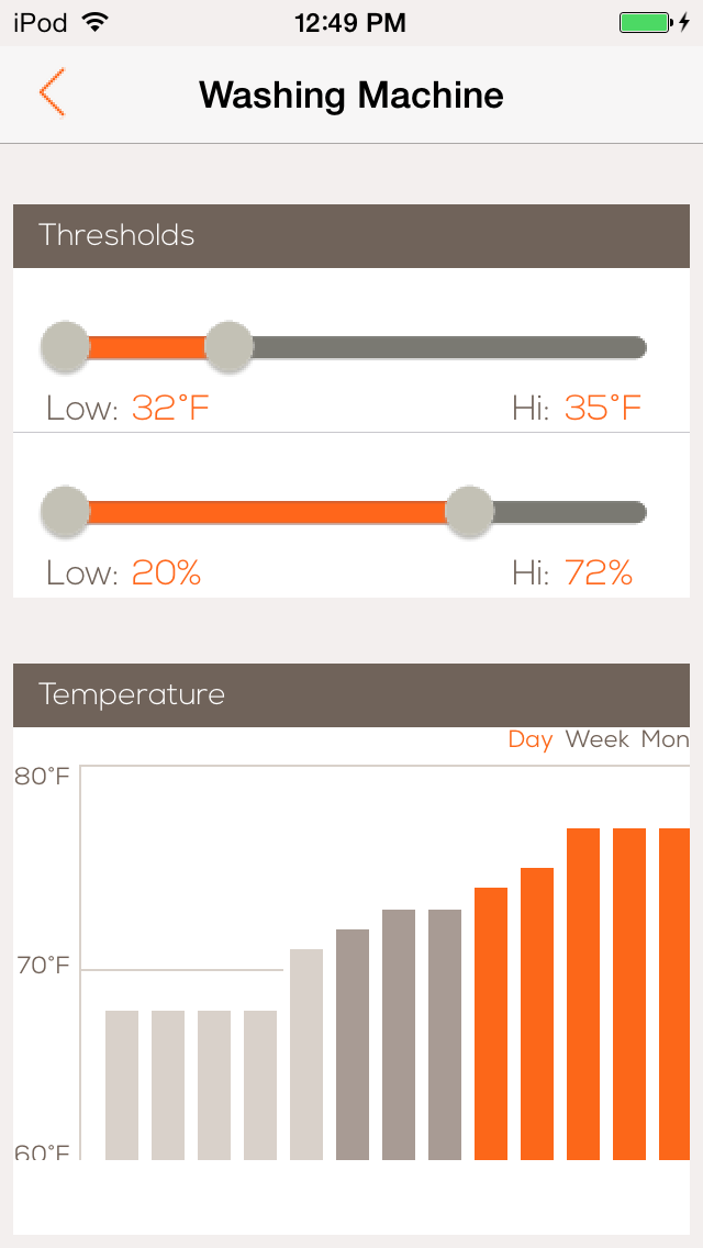 Monitor the Wally Moisture Minder through an iOS or Android app.