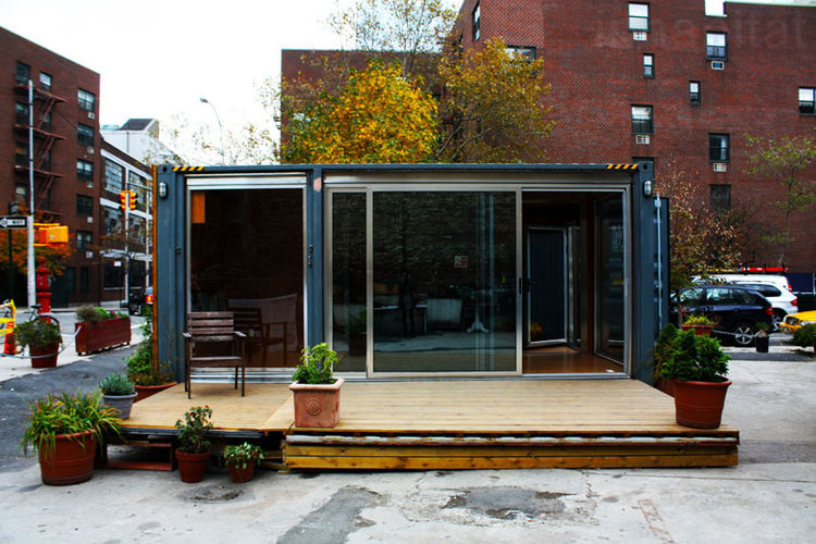 MEKA Shipping Container Pop-Up Prefab in New York