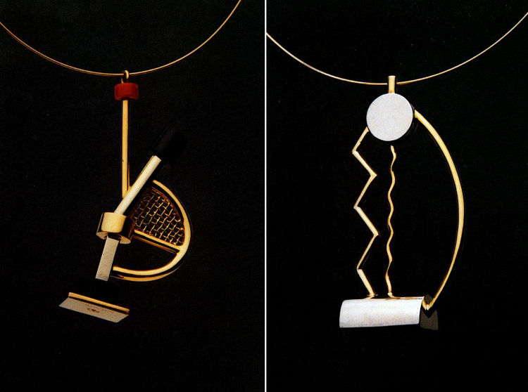 Barbara Radice Jewelry by Architects, Rizzoli, 1988, featuring necklaces by Ettore Sottsass
