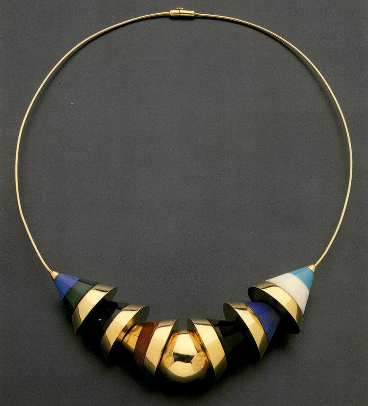 Barbara Radice Jewelry by Architects, Rizzoli, 1988, featuring a cuff necklace by Robert Venturi