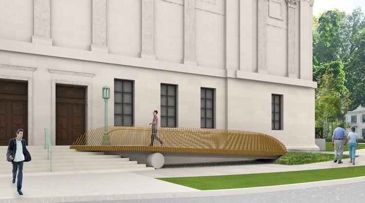 Worcester Art Museum accesible entrance ramp