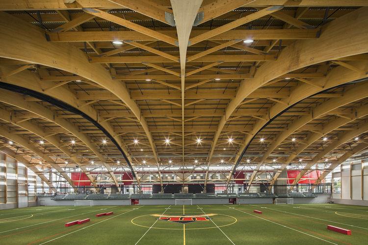 Stade Telus Wooden Stadium in Quebec