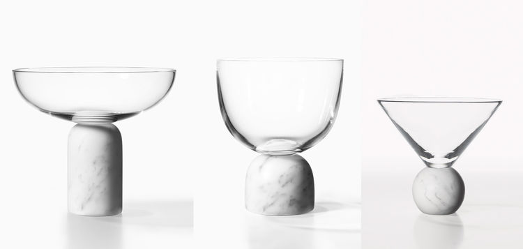 Lee Broom Nouveau Rebel marble On The Rock glassware collection