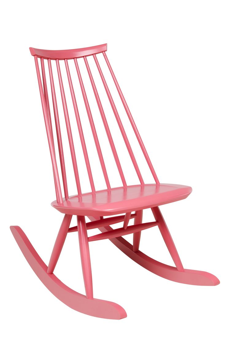 Ilmari Tapiovaara Mademoiselle rocking chair in pink