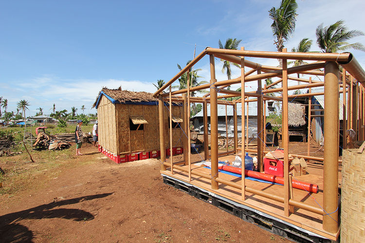 Prefab typhoon shelters can be built in hours.