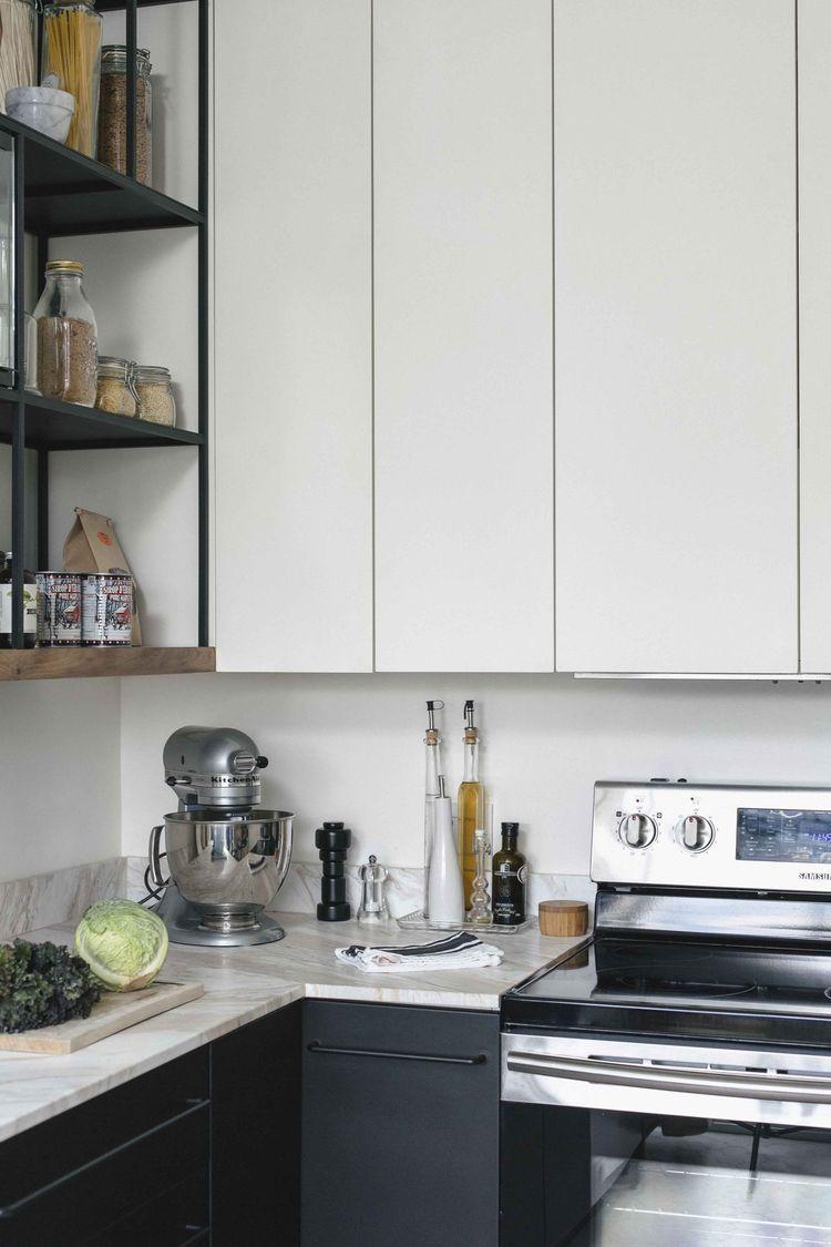 Montreal kitchen renovation with metal appliances